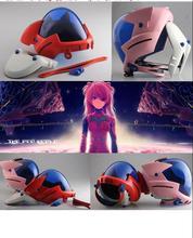 Anime EVANGELION EVA kask Asuka Langley Soryu kask Ayanami Rei akrilik maske Cosplay cadılar bayramı sahne