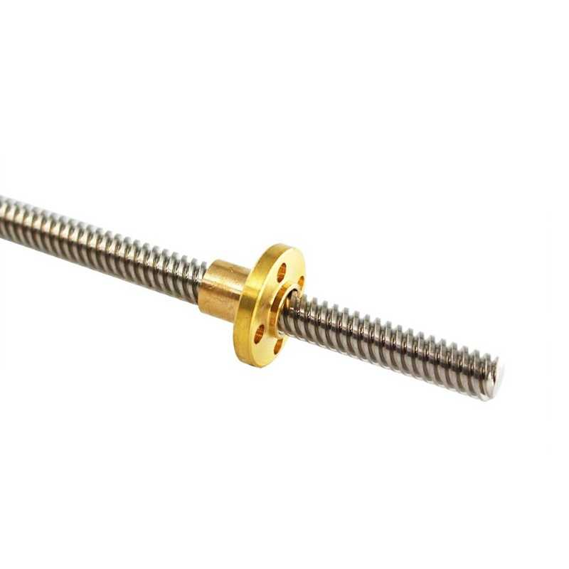 Details about  /Length 500mm Lead 8mm Screw and Brass Nut Pitch 8mm for 3D Printer Axis