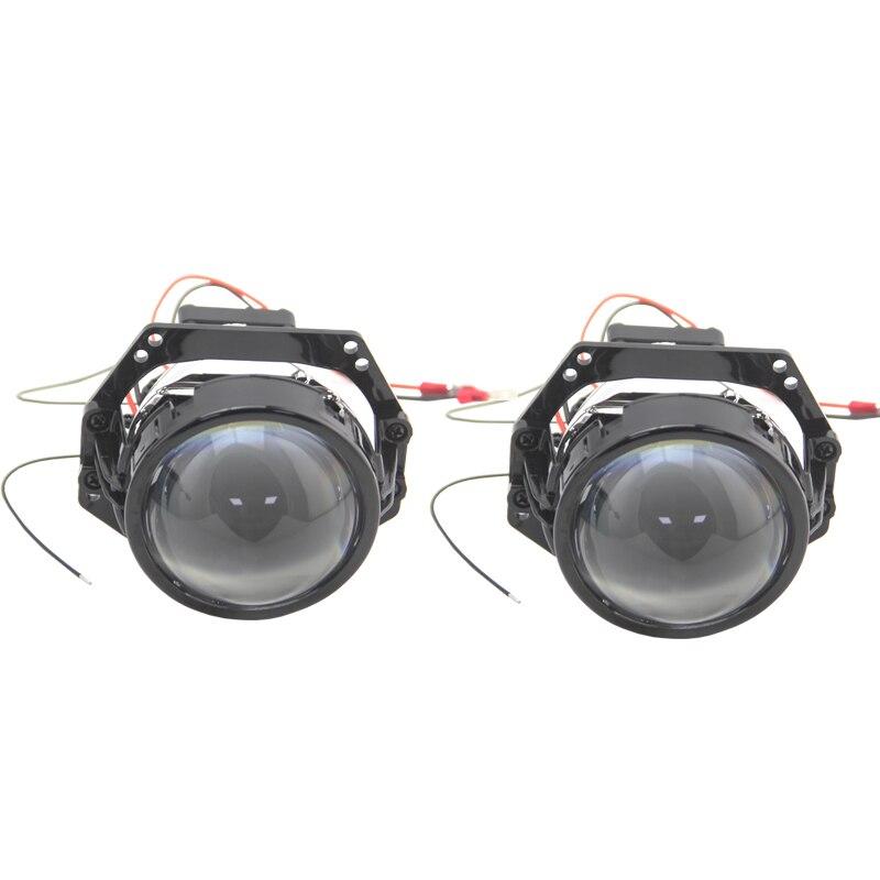 Bedehon haute luminosité 2 pièces 3.0 pouces LHD RHD Bi projecteur LED lentille 12V 34W 6000K 8000LM Hi/Lo faisceau intégré pilote avec ventilateur