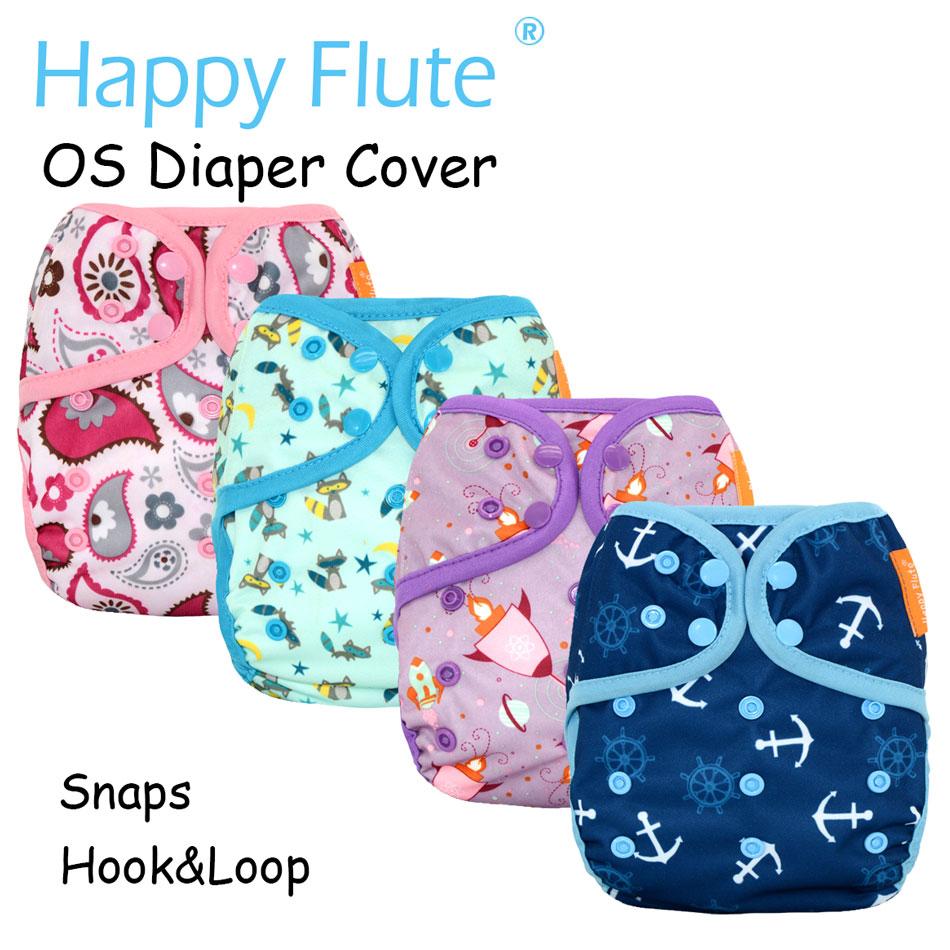 Nova impressão feliz flauta novo os capa de fralda de pano do bebê, impermeável respirável s m & l ajustável, ajuste 5-15kg bebê