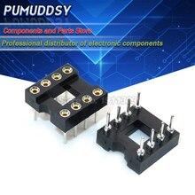 20 piezas de agujero redondo 8 pines 2,54 MM DIP DIP8 IC Sockets adaptador soldadura tipo 8 PIN IC conector