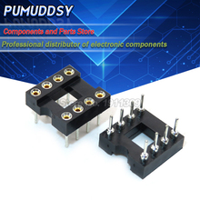 20PCS Round Hole 8 Pins 2.54MM DIP DIP8 IC Sockets Adaptor Solder Type 8 PIN IC Connector