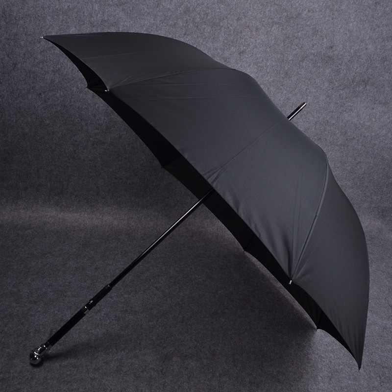 الفضة الهيكل العظمي كلية نمط الشمس في جميع الأحوال الجوية مظلة السيف الدفاعي الإبداعية المرأة الشمس حجب UV-حماية الرجال مقبض طويل عززت هدية