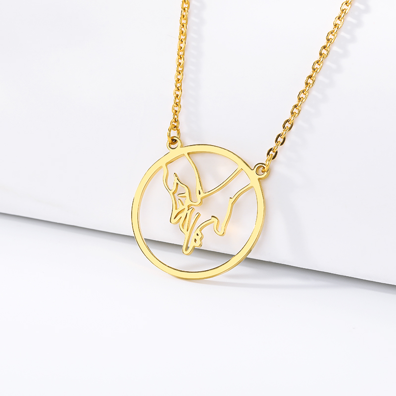 2019 new necklace Hand necklace Necklace Gift for the best friend Birthday gift Stainless steel gold jewelry BFF in Chain Necklaces from Jewelry Accessories