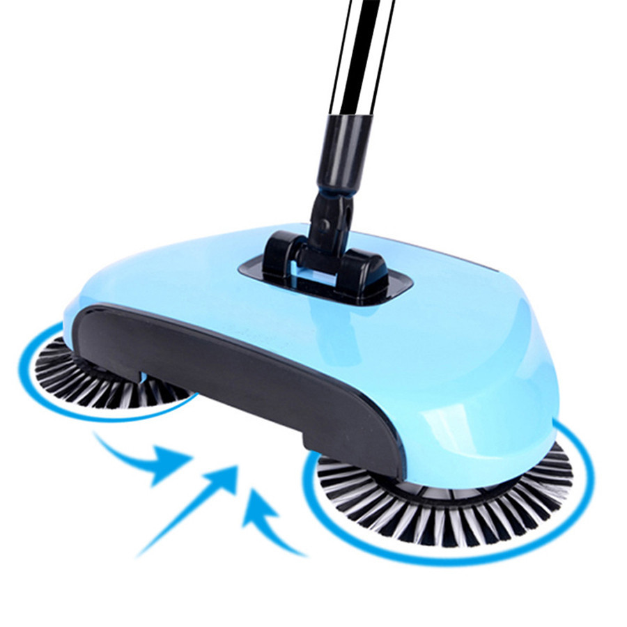 Sweeping-Machine Magic Broom Hand-Push Household Dustpan-Handle Push-Type Stainless-Steel