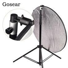 Gosear – réflecteur de fond Portable en aluminium pour Studio Photo et vidéo, boîte à lumière, support de disque pour support de lumière 55x73mm