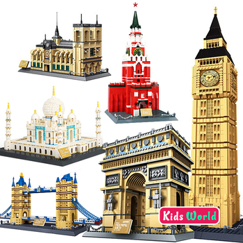 Compatible Famous Architecture Building Blocks Model World Classic City Bricks Model Kids assemble bricks toys Christmas gift 16pcs building blocks avengers world park dino world dinosaur toys model kids bricks christmas gift toys