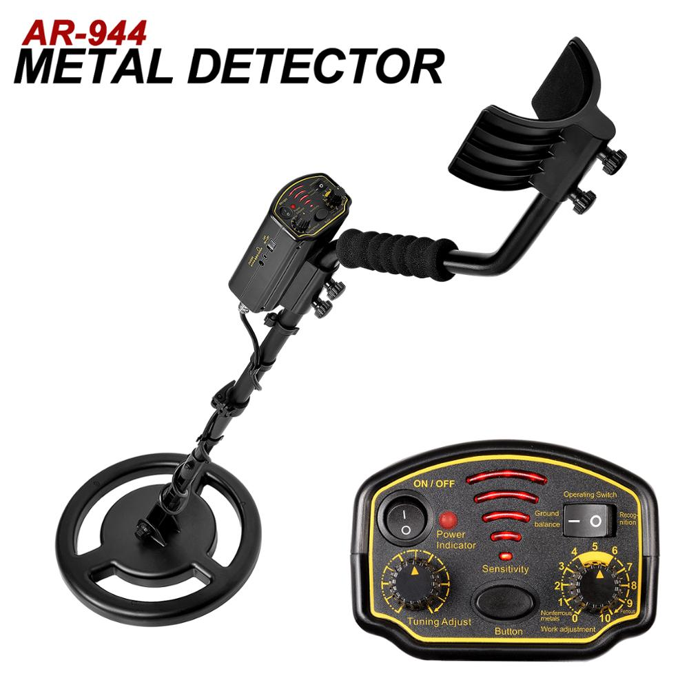 Détecteur de métaux souterrain professionnel profondeur 1.5m Scanner Finder 1200mA li-batterie trésor recherche chasseur or Digger fil