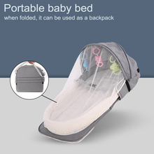 Backpack-Bed Travel-Bag Sleeping-Basket Portable Mummy-Bag Baby Infant Toddler with Mosquito-Net