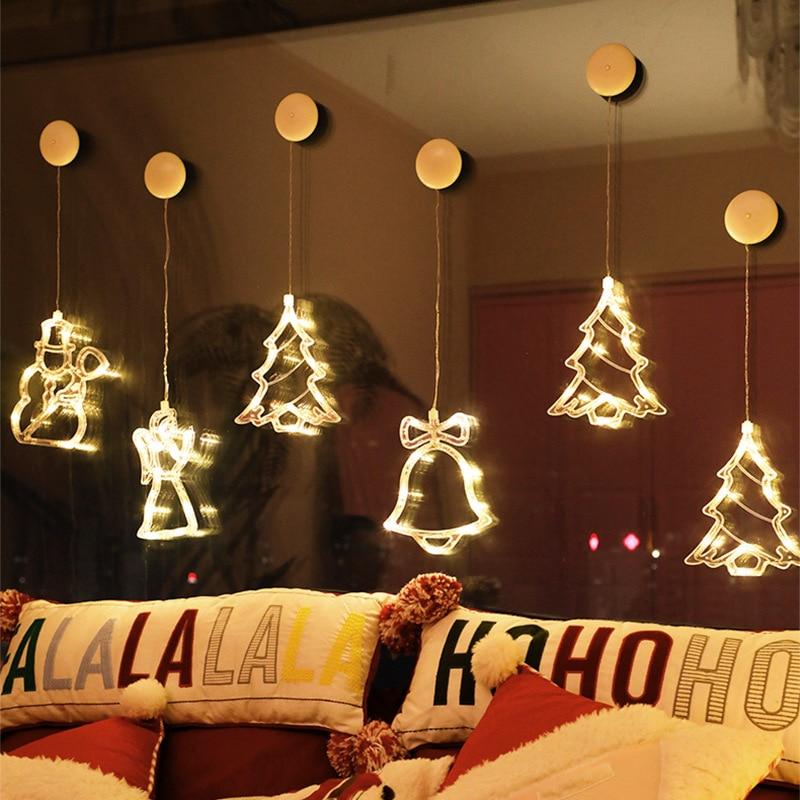 Us 1 92 33 Off Christmas Led Certain Light Window Hanging Decor Xmas Tree Elk String Lights New Christmas Lights Outdoor Fairy Lights On Aliexpress