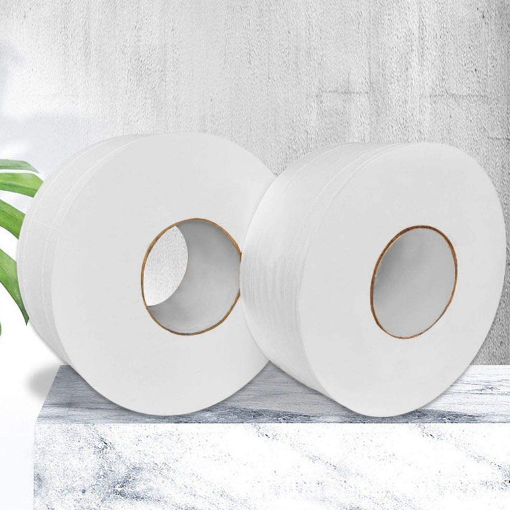 1 Roll Large Toilet Paper Roll Bathroom Bath Home Hotel Paper Towels Soft White 4-Ply New MH88