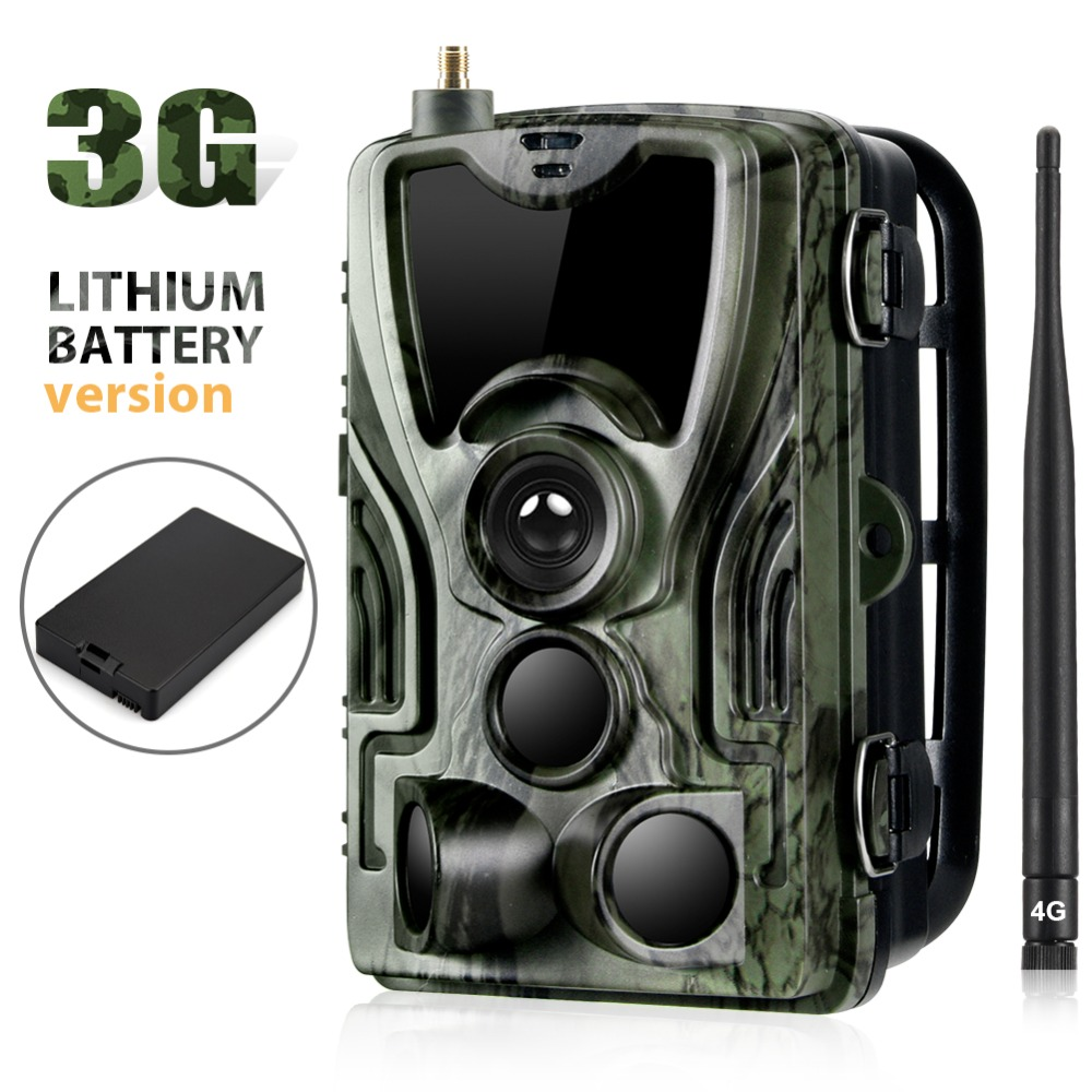 3G SMS MMS SMTP Trail Hunting Camera 16MP Cellular Cameras HC801G Photo Traps Wild Surveillance With 5000Mah Lithium Battery