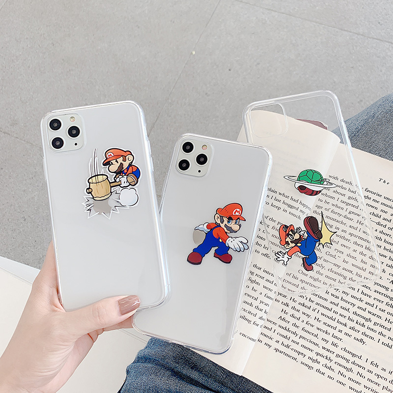Cute Cartoon Anime Phone Case For Iphone X XR XS Max For Iphone 6 6S 7 8 Plus 11Pro Transparent Soft Silicone Case Back Cover