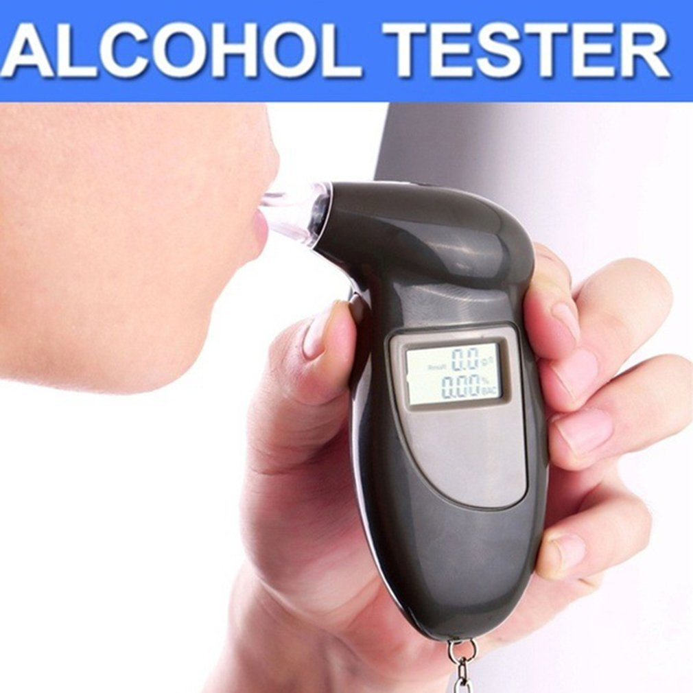 2019 Professional Alcohol Breath Tester Breathalyzer Analyzer Detector Test Keychain Breathalizer Breathalyser DeviceLCD Screen