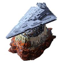 For Legoing Star Wars JEDHA City Galactic Empire Imperial Destroyer Model Starwars Figures Legoings Building Blocks Toy