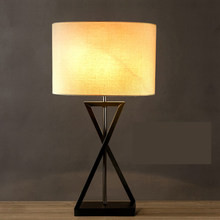 led e27 Korean Iron Fabric LED Lamp .LED Light .Table Light.Table Lamp.Desk Lamp.LED Desk Lamp For Bedroom Study Office Store(China)