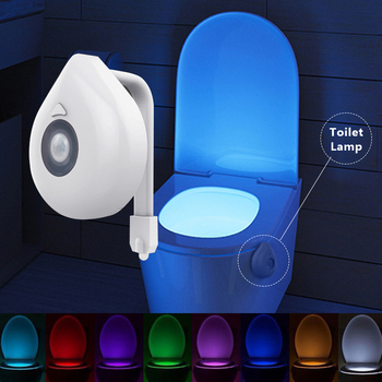 LED Toilet Seat Night Light Motion Sensor WC Light 8 Colors Changeable Lamp AAA Battery Powered Backlight WC Bowl Light Child wc light led motion sensor 8 colors automatic change toilet night light
