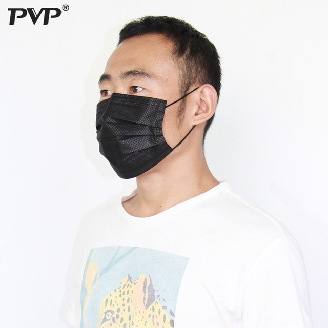 10/5/3Pcs Mouth Mask Disposable Black Cotton Mouth Face Masks Non-Woven Mask 3 Filter In Stock Dust-proof for Men Women Fashion 2