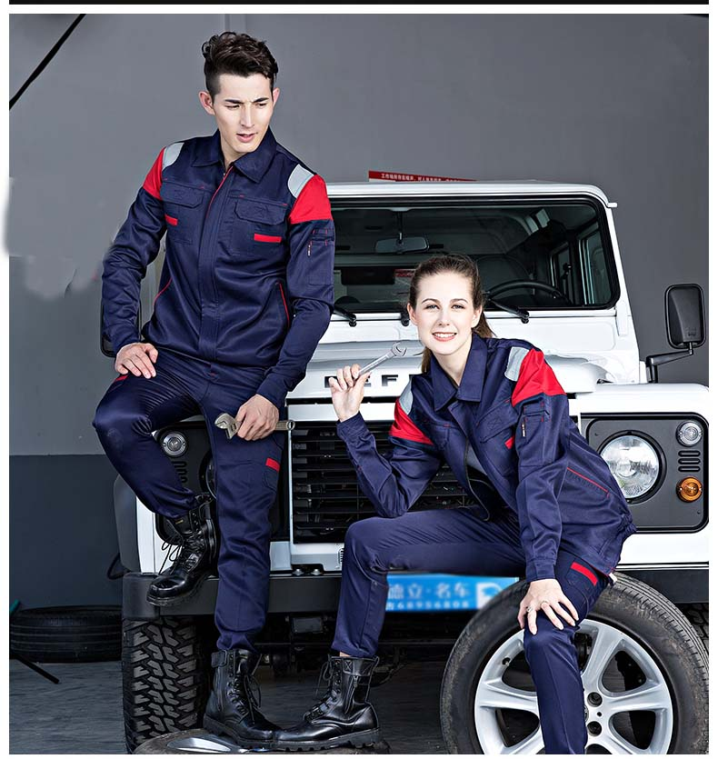 Welding Clothing Workwear Clothes Men Women Long Sleeves Workmen Uniform Car Workshop Working Suit Mechanical Repairmen Overalls