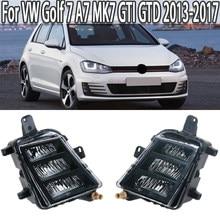 K-coche luz antiniebla delantera LED DRL lámpara de niebla para Volkswagen VW Golf 7 A7 MK7 GTI GTD 2013, 2014, 2015, 2016, 2017 5G0941699 5G0941700