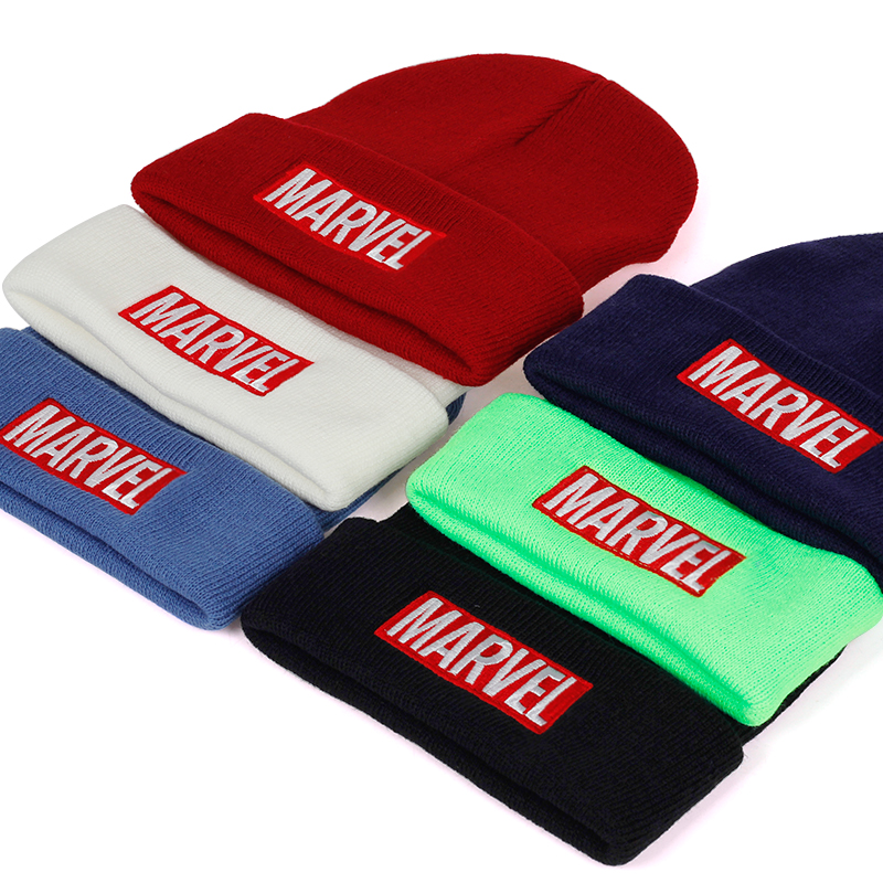 2019 New MARVEL Embroidery Headgear Hat Autumn And Winter Fashion Warm Wool Hats Men's And Women's Universal Cap Cold Caps