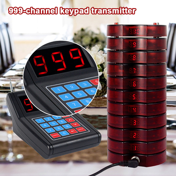 Restaurant Pager 10 Channels Wireless Paging Queue Waiter Calling System for Coffee Shop Queuing