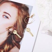 European and American cross border new key ear jewelry creative English letter love key Earrings Necklace simple retro Earrings
