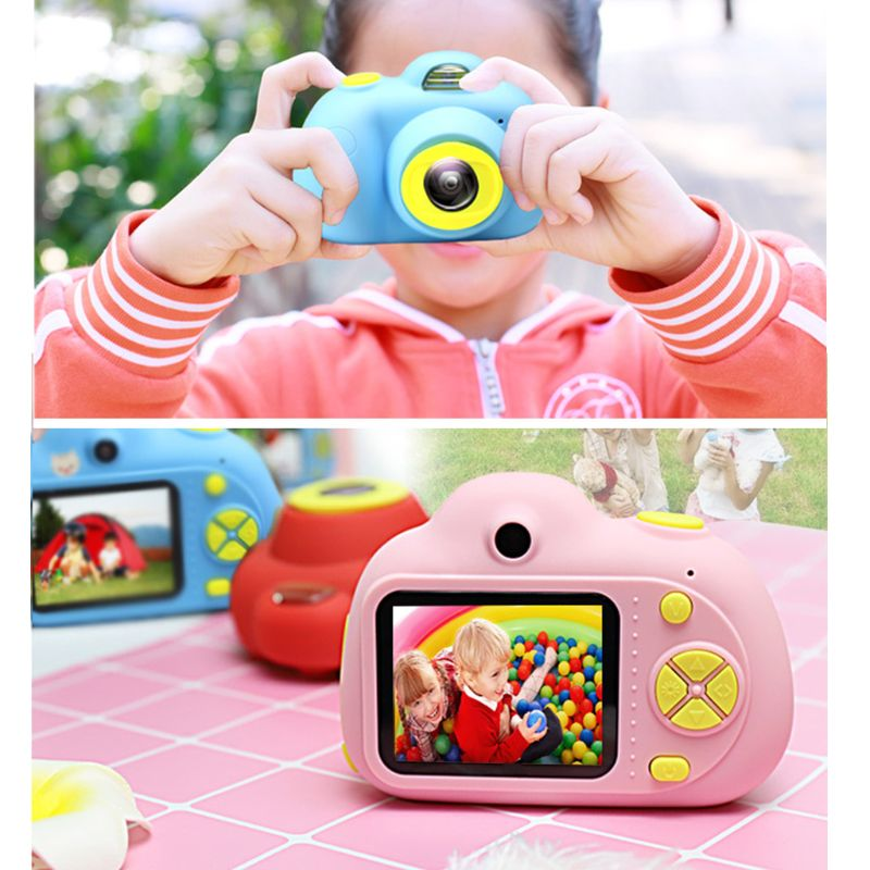 Kids Camera Toys Gifts For 4~8 Years Old Girls Shockproof Toddler Camera & Camcorder With Soft Silicone Shell For Outdoor Play