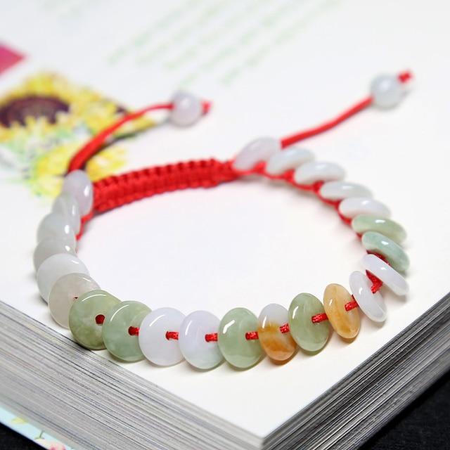 Natural burma jadeite vermelho lucy pulseira para mulher pulseira presente da amizade jade artesanal jóias