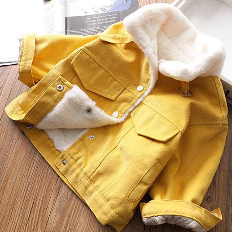 ファッション暖かい冬女の子カシミヤパーカーカーディガンコート生き抜く 2019 ベビーキッズ子供厚みのジャケット Casacos S10281