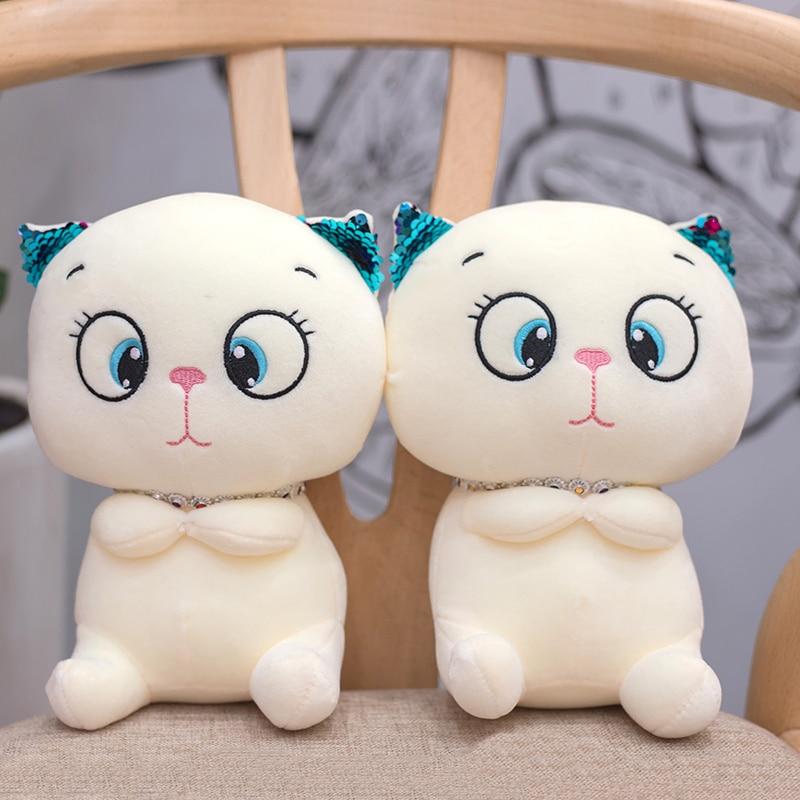1pc 20cm Cute Plush Cat Toys Stuffed Animals Cartoon Doll Kids Girls Gifts creative cat plush toys kids toy