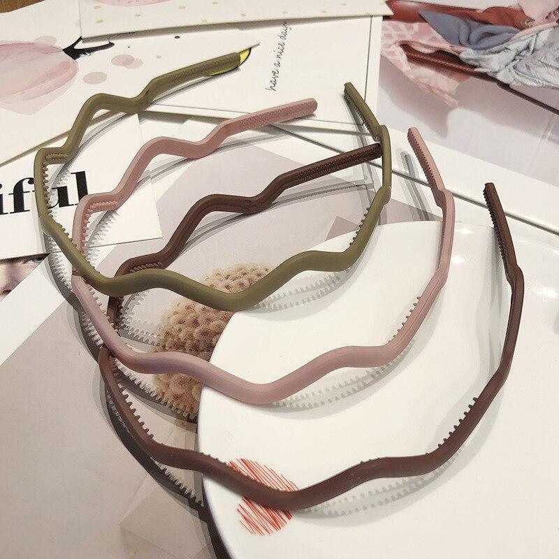 Fashion Wavy Hair Head Hoop Band Sport Headband Hairband Headbands For Women Candy Colors Bezel For Hair Girls Hair Accessories