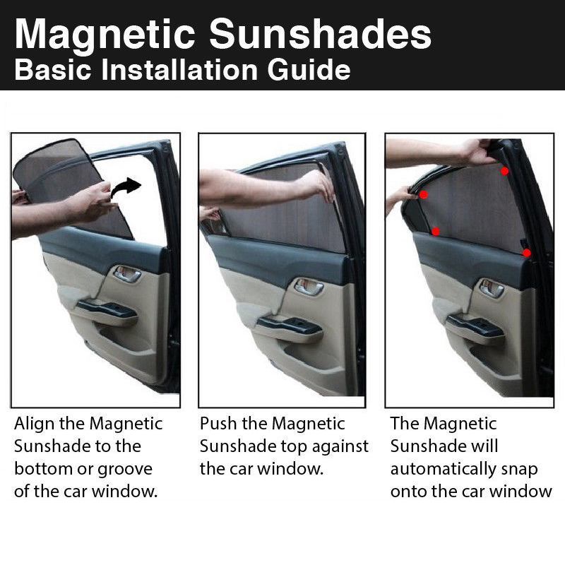 Car Window Sunshade Magnetic for CRV 2017-2019-Sun Glare and UV Rays Protection for Your Child Baby Interior Light Shielding Curtain Sunscreen Shade 6 pcs//Set