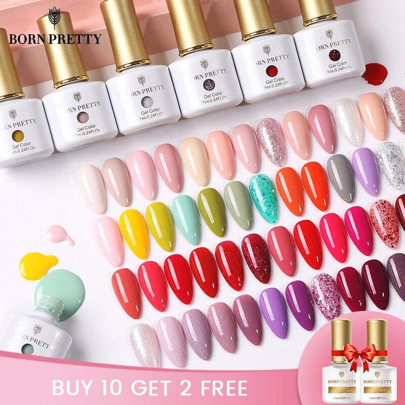 Гель-лак BORN PRETTY 7 мл 88 цветов s для дизайна ногтей и вечерние гель-лаки серии для ногтей насыщенный впитывающий УФ-гель лак все для ногтей
