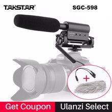 Внешний моно микрофон направленный Takstar SGC 598 Интервью Моно Микрофоны для Съемок Видео Shotgun Микрофон для Nikon Canon DSLR Видеокамеры