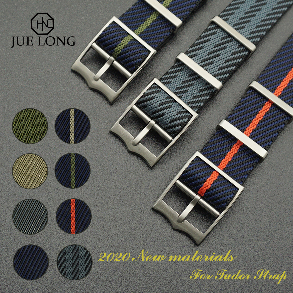 New Material Nylon Nato French Troops Parachute Bag For Tudor Black Bay Strap For Bond Nato Strap 20mm 22mm Military Watch