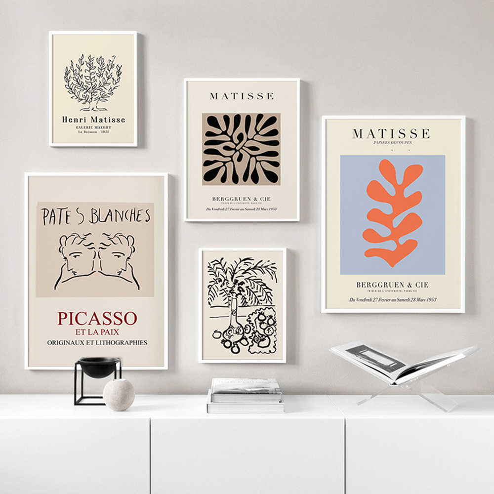 Matisse Botanical Art Poster Abstract Vintage Mid Century Gallery  Picture Nordic Wall Art Modern Art for Living Room Bedroom