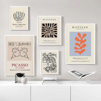strong Import List strong Matisse botaniczny plakat artystyczny streszczenie Vintage połowa wieku galeria obraz Nordic Wall Art Modern Art do salonu sypialnia tanie i dobre opinie Anioł Ściany CN (pochodzenie) Wydruki na płótnie Pojedyncze PŁÓTNO Wodoodporny tusz abstrakcyjne bez ramki AGW5006