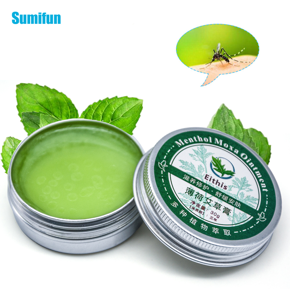 Sumifun 1Pcs Herbal Ointment Moxa Moxibustion Anti Motion Itching Wormwood Spearmint Cooling Oil Refresh Cream P0040
