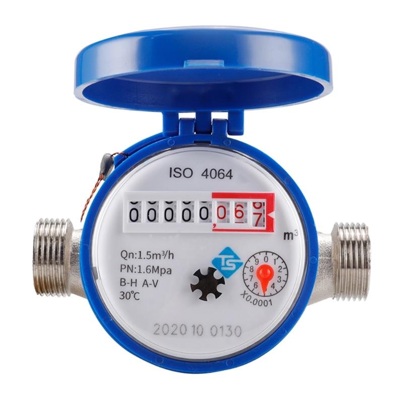 Water Meter Mechanical Rotary Wing 0-30℃ Cold Water Meter TYPE-E Qn 1.5m3/h Y5JA