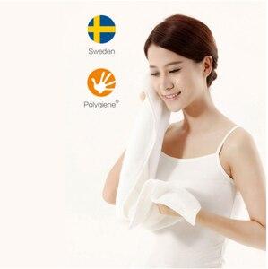 Image 3 - Original Youpin ZSH หนุ่มผ้าเช็ดตัว Polyegiene Antibacterical 100% ผ้าฝ้ายสูงดูดซับผ้าเช็ดตัวผ้าขนหนู Hand Hand 5 สี