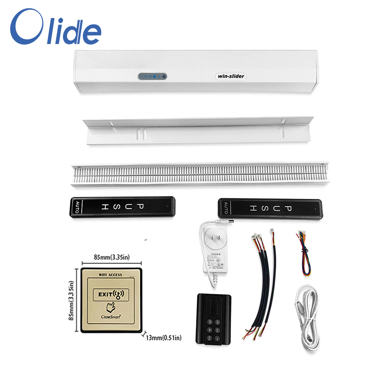 Olide Smart Phone App Control Electric Residential Sliding Door Opener With Wired WIFI Access Exit Button