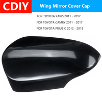 1PC Left Side Wing Cap Side Car Rearview Mirror Cover For TOYOTA YARIS 2011-17, for CAMRY 11-17, for PRIUS C 12-18