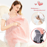 Breathable mother breastfeeding cover mosquito net breastfeeding privacy apron feeding cover maternity baby nursing cover