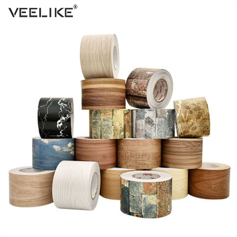 Marble Self Adhesive Waist Line Wallpaper Waterproof Decorative Wall Border For Living Room Floor Corridor Skirting Line Sticker