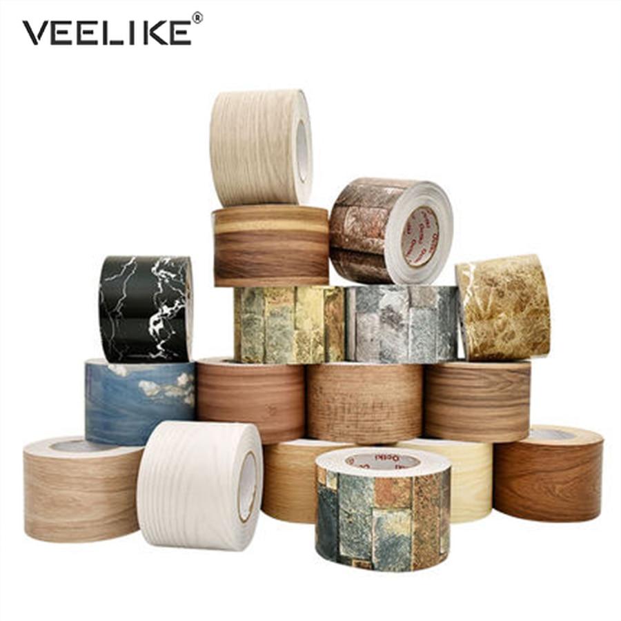 Marble Self Adhesive Waist Line Wallpaper Waterproof Decorative Wall Border For Living Room Floor Corridor Skirting Line Sticker