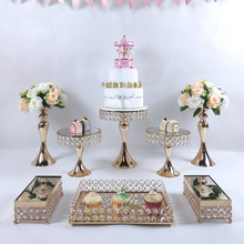 Dessert Display Tray Decoration-Tools Cake-Stand-Set Wedding-Crystal-Mirror 3-Tier cupcake