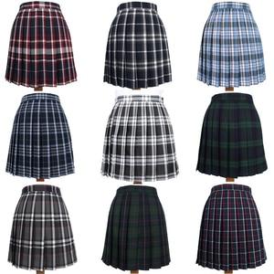 Japanese School Dresses Plaid Pleated Skirt Student Cosplay Anime Mini Grid Skirt Jk Uniforms Sailor Suit Short Skirts For Girls(China)