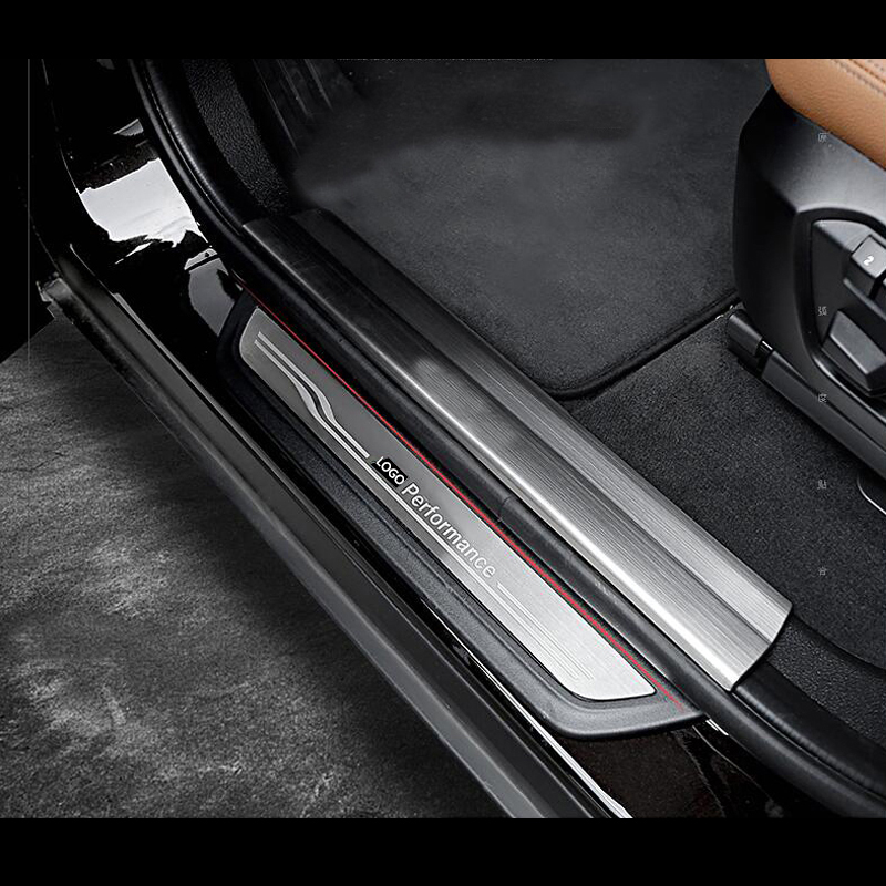 Автомобильный Стайлинг, дверная приветственная педаль, пороговое крепление, накладные полосы для BMW 1, 3, 4, 5 серии, 3GT, X1, X3, X4, X5, X6, F20, F30, F10, F25, F16,...