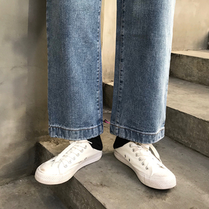 Image 5 - Jeans Women Spring Summer Trendy Korean Style All match Simple High Waist Streetwear Ulzzang Womens Trousers Chic Loose Casual